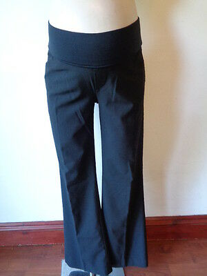 Gap Maternity Smart Black Under Bump Work Bootcut Trousers Size 8 R/s Uk 12