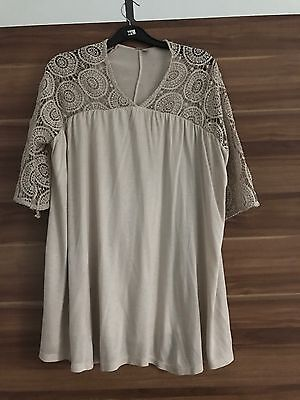 New With Tags Asos Size 12 Maternity Top Crotchet Sleeve