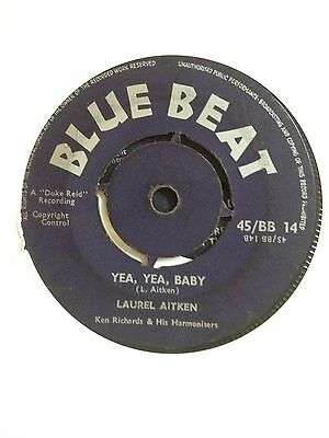 "RARE  LAUREL AITKEN BLUE BEAT 14 UK 7"" 1961 KILLER SKA/RnB/BOOGIE"