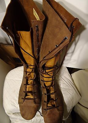 TONY TODD worn SET USED PROP Leather Boots XENA WARRIOR PRINCESS Lost Mariner