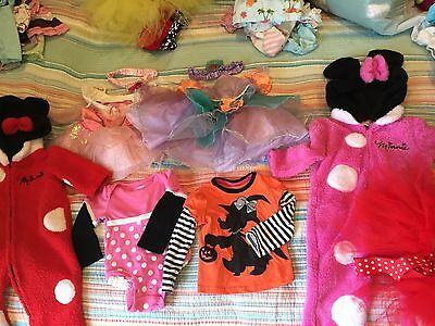 Lot of Baby Girl Disney Minnie Mouse clothes 12 Months Disneyland princess ariel