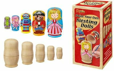 Wholesale Job Lot 24 Decorate your own Nests Stacking Dolls *Boys *Girls *Kids