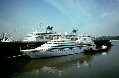 Seabourn Legend at new York - Original Kodachrome Slide