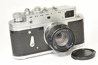 ZORKI 4 rangefinder camera with Jupiter 8, based on Leica, after CLA from 1972