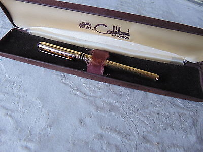 Vintage Fountain Pen Gold Plated Colibri Of London With Good Nib