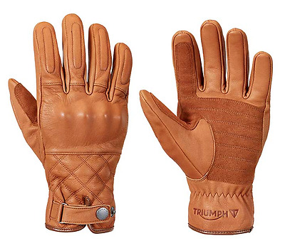 Triumph Motorcycles Men's Tan Leather Barbour Gloves MGVS17115