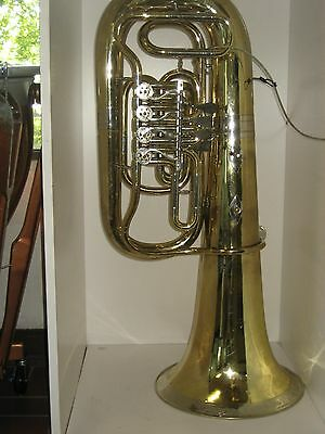 GOOD MIRAPHONE / MIRAFONE EEb CONCERT 4 VALVE TUBA, NO DENTS, WITH CANVAS BAG