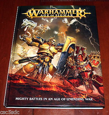 Warhammer Age of Sigmar Book hardcover 2015 Games Workshop