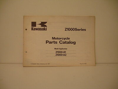 KAWASAKI Z1000 A1A2 SERIES 1977 catalogue pièces détachées parts list catalogue