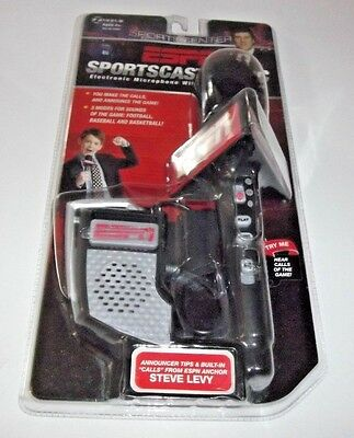 NEW ESPN Sportscaster Electronic Microphone W/Built-In Speaker FACTORY SEALED
