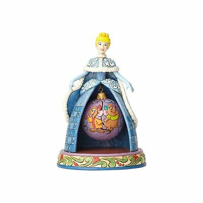 Disney Traditions Jim Shore Cinderella Christmas Resin Figurine New with Box