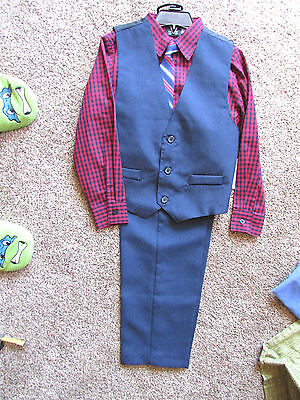 NWT Holiday Editions Boys Size 7    4-Piece Suit Red/Blue