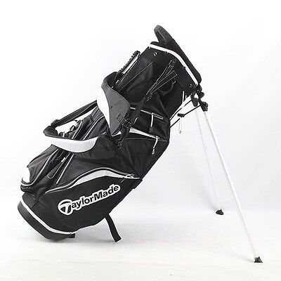TaylorMade Pure Lite 3.0 Black Stand Bag Stadium Top, Carry Harness & Rain Hood