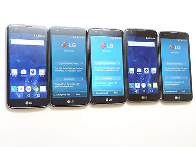 Lot of 5 LG K7 K330 T-Mobile Smartphones All Power On Good LCD AS-IS GSM *