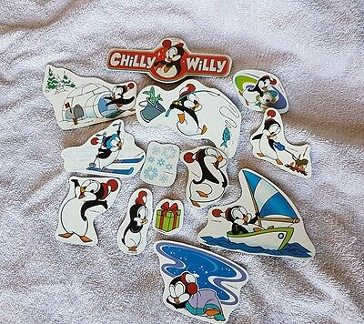 Vintage Chilly Willy The penguin fridge magnets collection of 12   rare find