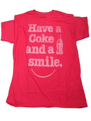 Coca-Cola Have a Coke and a Smile Tee T-shirt X-Large XL- FREE SHIPPING