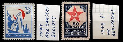 Turkey 1949 / 1944 Red Crescent,  Fine Mint hinged (lot 105)
