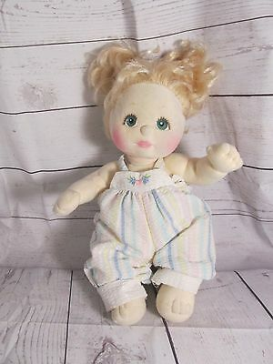 1985 Mattel My Child Doll Blonde Hair w Pigtails, Original Outfit