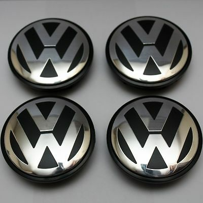 4x Volkswagen Alloy Wheel Centre Caps 65mm Badge Fits-Golf,Passat,Scirocco,Bora