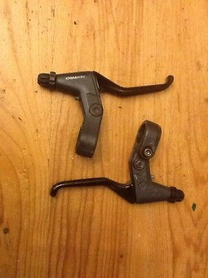Tektro V Brake Levers in Black and Gunmetal Matched Pair L R