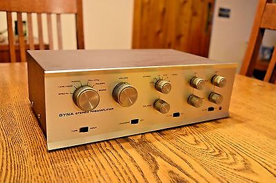 Dynaco PAS 3 Stereo TUBE Preamp with phono very musical! New 12AX7 set Dyna #8