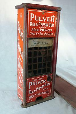 Complete Original Working Early Tall Chocolate Pulver Gum Vending Machine
