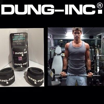 Dung-Inc.® Heavy Duty Wrist Support Gym Straps Weight Lifting Wrap Body Building