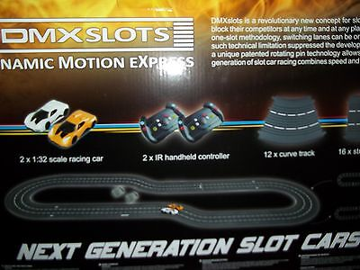 DMX Slot Car Racer Set, Wireless Action!  (2 Cars Included)