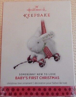 Hallmark Keepsake Ornament Somebunny New to Love Baby's First Christmas - NIB