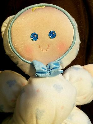 Fisher Price vintage SLUMBER BABIES bear plush doll stuffed 1989 blue