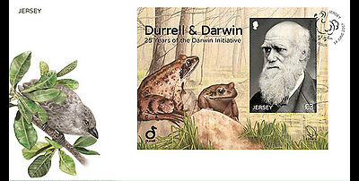 Jersey 2017 Durrell Darwin Initiative portrait nature frog trees   ms1v mnh FDC