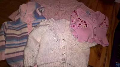 Baby girl bundle of knitwear size 0-3 months