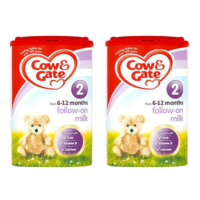 Cow & Gate 2 Follow-On Milk from 6-12 Months 900g 2 Pack