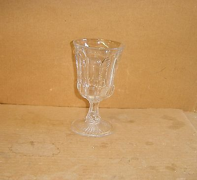 Eapg Crystal Michigan State Pattern Water Goblet Us Glass 1902