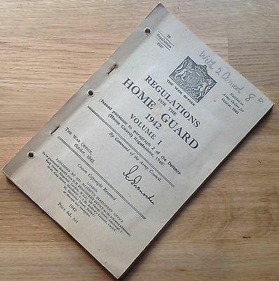 Original Wwii British Manual: Regulations For The Home Guard, 1942