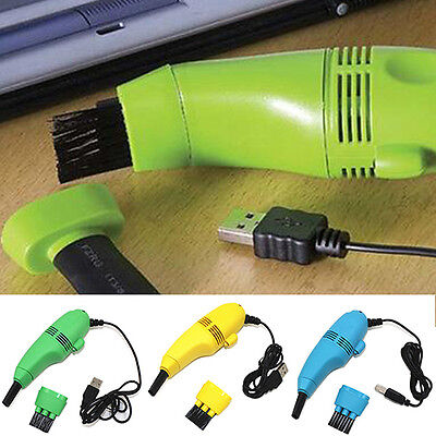 Mini USB Dust Collector Laptop PC Keyboard Vaccum Cleaner Brush Clean Tool New