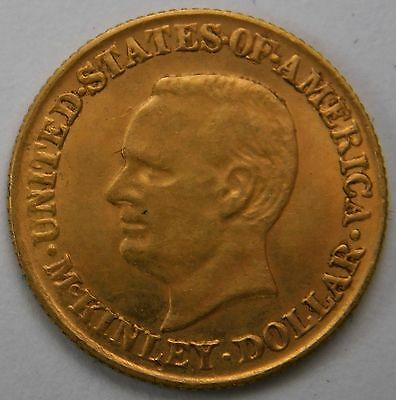 1917 McKinley Gold Dollar Coin G$1 Very Rare Only 5000 Left Trouble Free 443