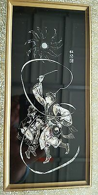 Korean Farmer's Dance Mother of Pearl Signed