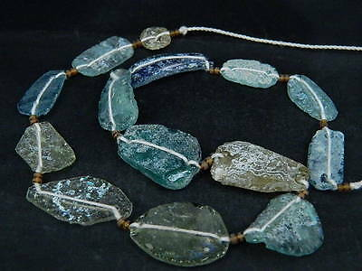 Ancient Fragment Glass Beads Strand Roman 200 BC  #BE1449