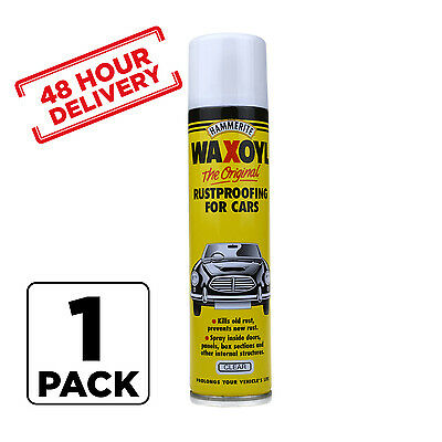 1 x Hammerite Waxoyl Wax Oil Rust proofing Aerosol CLEAR 400ml 48 hour Delivery