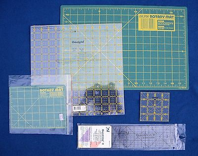 Lot of 5 Items - Quickline II, Omnigrid and Olfa Rotary Mat