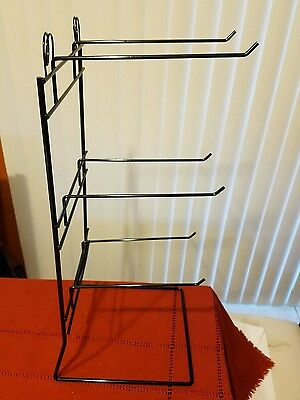 "One 6 Single Peg Hook Counter Top Display Rack (Holds 4"" x 7"" Item) (Black)"