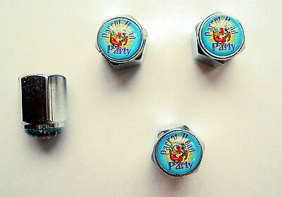 Jimmy Buffett Tire Valve Stem Caps, Jimmy Buffet Parrot Head Logo Tire Caps,