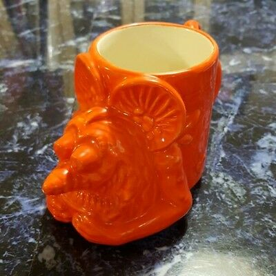 "Used! Excellent! Rat Fink Mug Cup ""BIG DADDY"" ED ROTH orange"