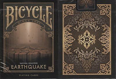 Earthquake Bicycle Playing Cards Poker Size Deck USPCC Custom Limited Edition