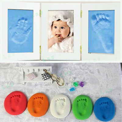 Air Drying Soft Clay Baby Handprint Footprint Casting fingerprint ink 7Color Pop