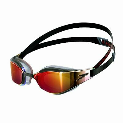 Speedo Orange Green Fastskin Competition Racing Swimming Goggles Limited Edition