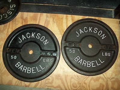 vtg JACKSON BARBELL 50s crossfit BODYBUILDING fitness POWERLIFTING YORK gym
