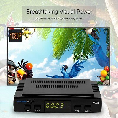 Freesat V7 DVB-S2 HD 1080P Satellite Receiver Receptor Decoder + USB WIFI BG