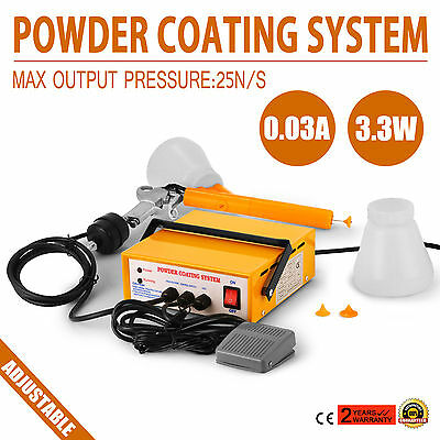 Portable Electrostatic Powder Coating System PC03-5 Yellow 0.03AMPS Paint Tools